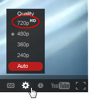 YouTube: In order to get the clearest picture possible while viewing these videos, please click the tiny gear button in the bottom right corner of the video and then click 720p.