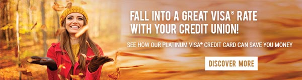 Fall into a great VISA® rate with your credit union!